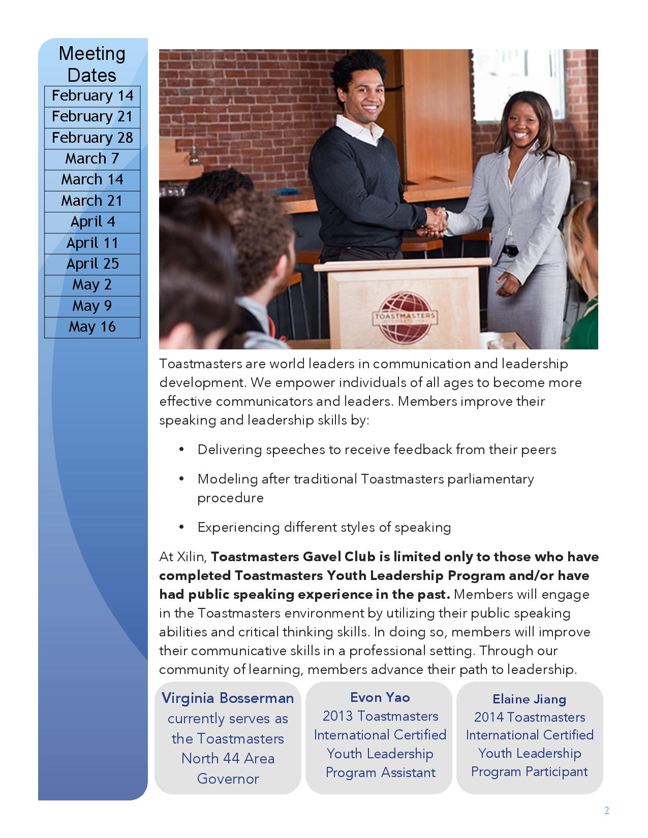 club mission toastmasters international provides a supportive and positive learning environment in which members are empowered to advance public speaking